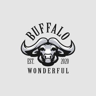 Maravilhoso logotipo de búfalo