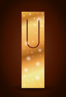 Marca de etiqueta Bookmark com ícone de estrelas. Leitura da decoração do guia e tema da literatura. Des coloridos