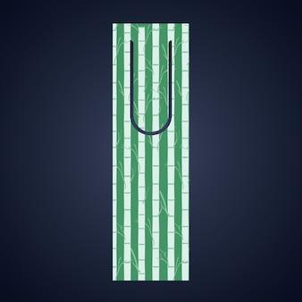 Marca de etiqueta Bookmark com ícone de ramos. Leitura da decoração do guia e tema da literatura. Colorida