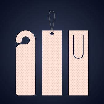 Marca de etiqueta do marcador com o ícone de pontos. Leitura da decoração do guia e tema da literatura. Colorido de