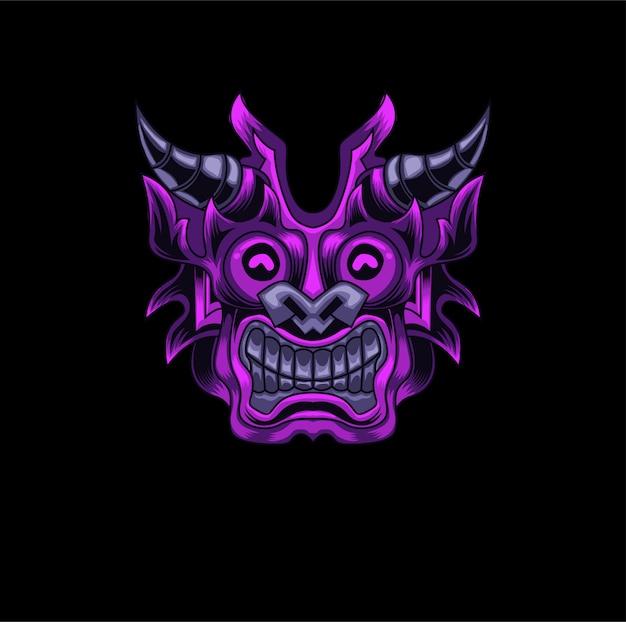 Marca de logotipo de jogos de máscara tribal