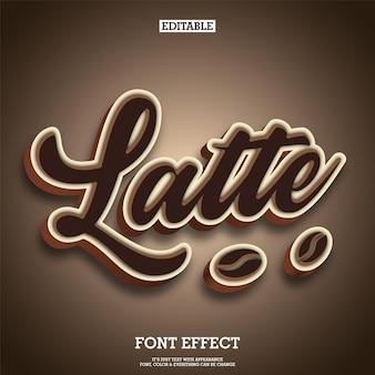 Marca de logotipo de texto de tipografia de café e chocolate