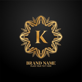 Marca de luxo estilosa da letra k