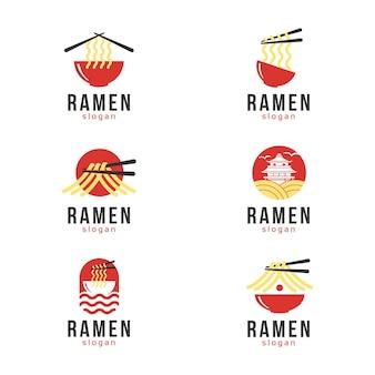 Marca de ramen, ilustração de comida japonesa