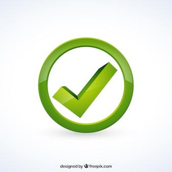 Marca de seleção verde