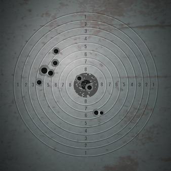 Marca de tiro composição pontual