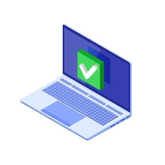 Marca de verificação ou notificação de verificação