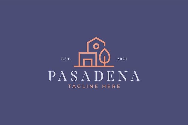 Marca do logotipo da casa e do arquiteto