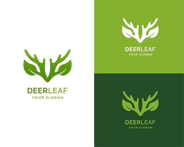 Marca do logotipo da folha de veado