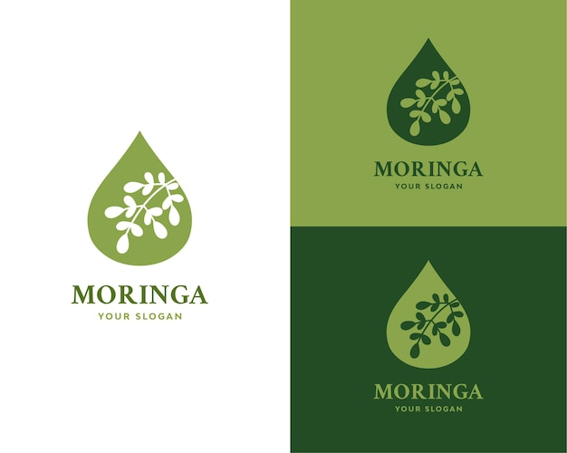 Marca do logotipo do óleo de moringa
