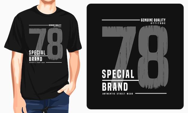 Marca especial - t-shirt gráfica para impressão