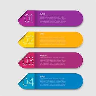 Marca o número do gráfico origami papel cor no modelo de informação-gráfico de vetor para diagrama de apresentação do diagrama e conceito de negócio com opções de 5 ou 6 elementos
