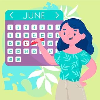 Marcação de compromissos no design do calendário