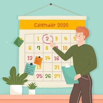 Marcação de compromissos no estilo de calendário