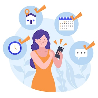 Marcação de consulta no conceito de calendário