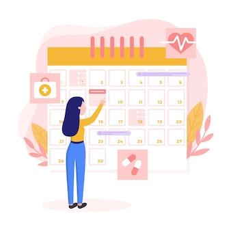 Marcação de consultas com calendário