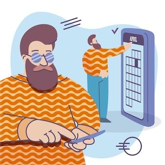 Marcação de consultas com smartphone