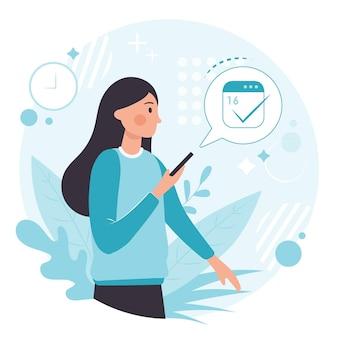 Marcação de consultas em design móvel