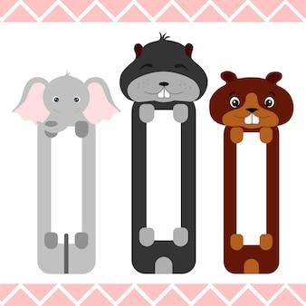 Marcadores de bebê com animais fofos