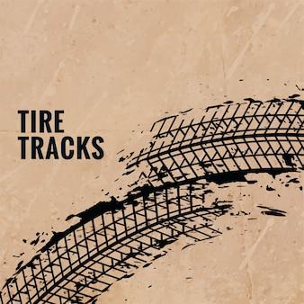 Marcas de impressão de pneu de grunge fundo