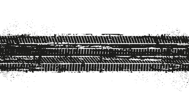 Marcas de pneus sujos de grunge