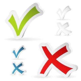 Marcas de verificação adesivos