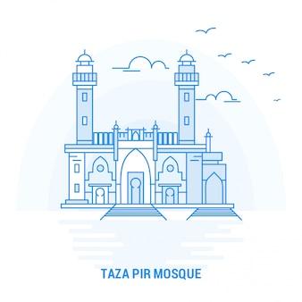 Marco azul da mesquita taza pir