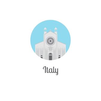 Marco da itália isolado ícone redondo