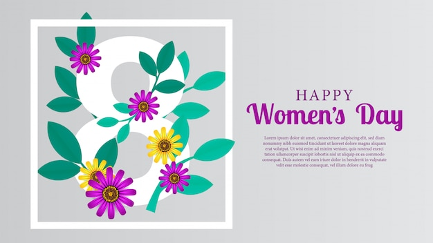 Março dia da mulher feliz