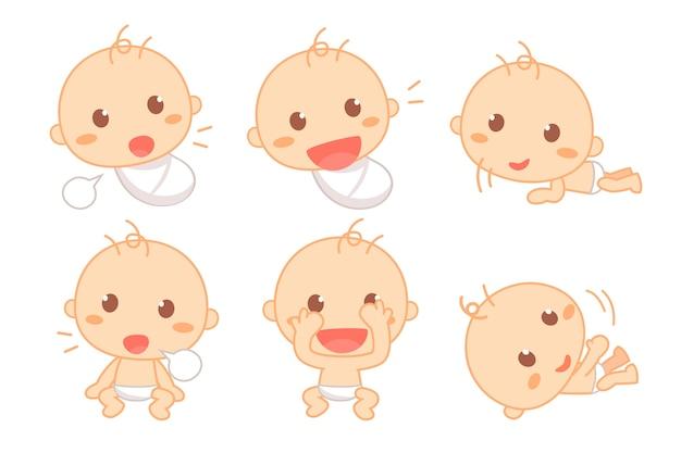 Marco do bebê fofo