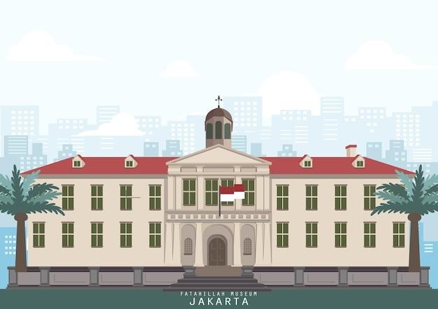Marco do edifício de jacarta, indonésia