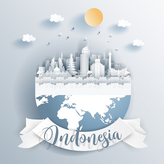 Marcos da indonésia na terra