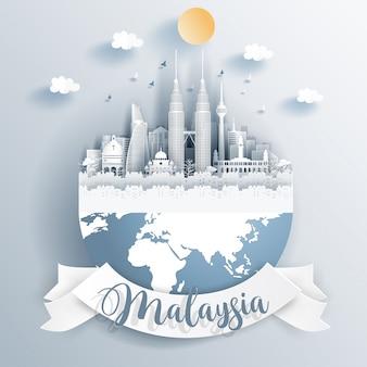 Marcos da malásia na terra