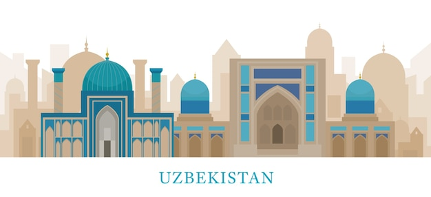 Marcos do horizonte do uzbequistão