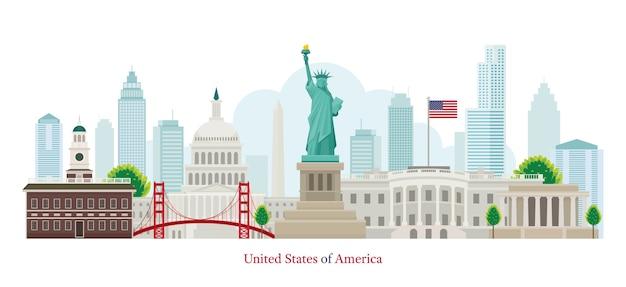 Marcos dos estados unidos da américa