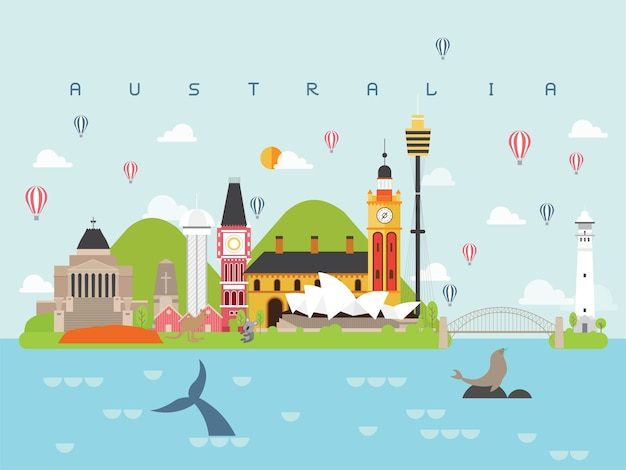 Marcos famosos da austrália
