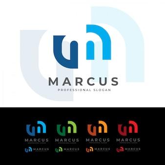 Marcus m letter logo