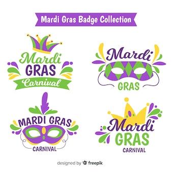 Mardi gras carnaval coleção de crachá