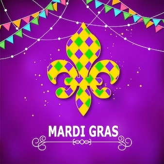 Mardi gras carnaval conjunto de ícones