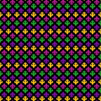 Mardi gras carnival seamless pattern