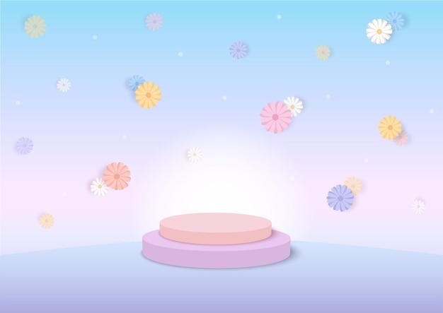 Margarida flores fundo temporada de primavera