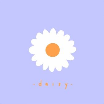 Margarida flores símbolo mídia social postar ilustração vetorial floral