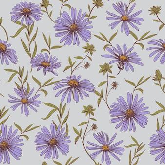 Margarida. padrão uniforme. ilustração em vetor sketch. desenho de tecido.