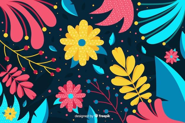 Margaridas bonito e folhas de fundo