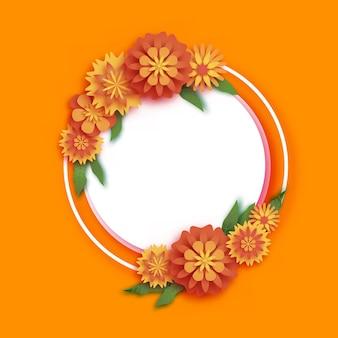 Marigold green leaf garlandflower indian happy diwali dasara dussehra ugadivector
