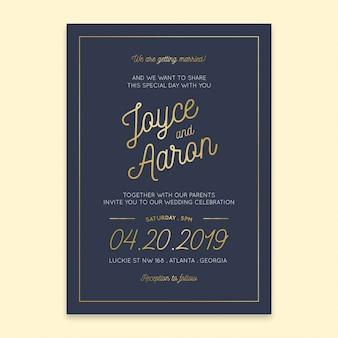 Marinha do convite do casamento