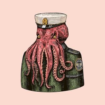Marinheiro polvo. capitão do mar.