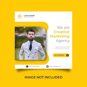 Marketing criativo digital, postagem em mídia social corporativa e modelo de design de banner da web