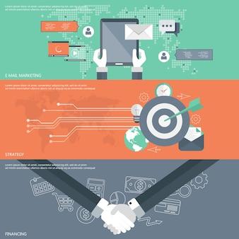 Marketing de e-mail, estratégia, banners de financiamento