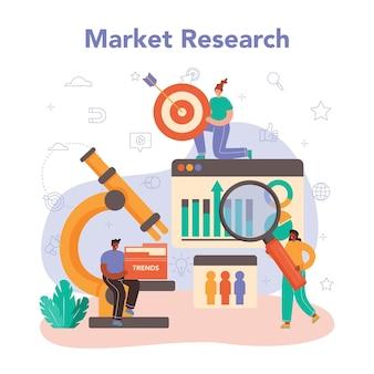 Marketing de marca ou publicidade de produto e desenvolvimento de especialista em promoção